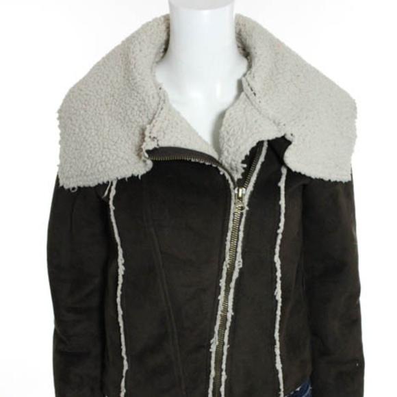 Jack by BB Dakota Jackets & Blazers - Jack by BB Dakota Brown Suede Sherpa Coat XS